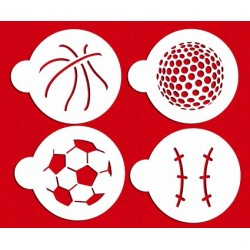 Foot-basket-golf-baseball Set/4 - 9cm