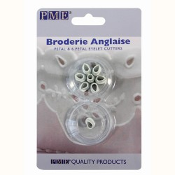"""Broderie Anglaise """"Single & 6 Petal Eyelet"""" Cutters - ACTION"""