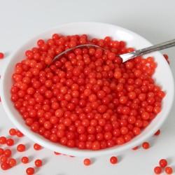 "Perles en sucre ""Shiny Red"" Rouge brillant - 80g"