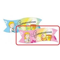 """Banderoles """"Communion"""" fille azyme - 3pcs"""