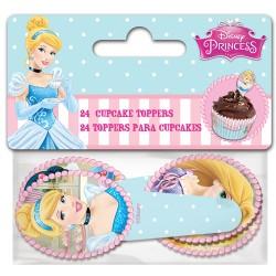"Cupcake Toppers ""Princesses"" - 24pcs"
