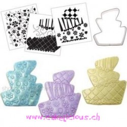 Cookie Cutter Texture Set - Topsy Turvy/Whimsy cake - ACTION