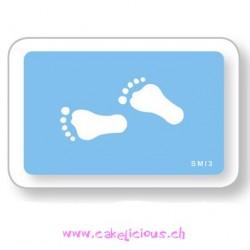 "Pochoir ""Footprints"""