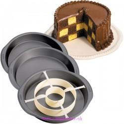 Gâteau damier Set/4