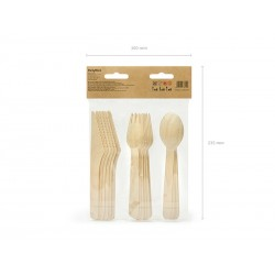 Wooden Cutlery gold stars