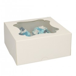 4 Cupcakes Box with Insert