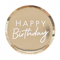 Goldene Teller Happy birthday