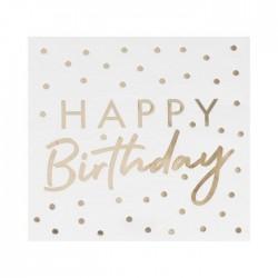 Goldene Servietten Happy birthday