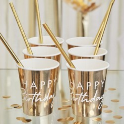Goldene Becher Happy birthday