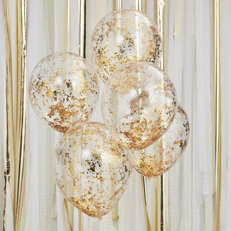Glitter balloons gold