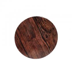 Tortenplatte Rund - Holz-Effekt