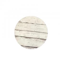 Tortenplatte Rund - heller Holz-Effekt