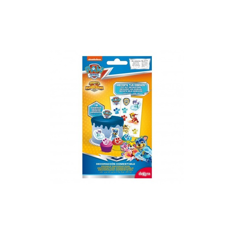 Wafer paper decorations Paw Patrol