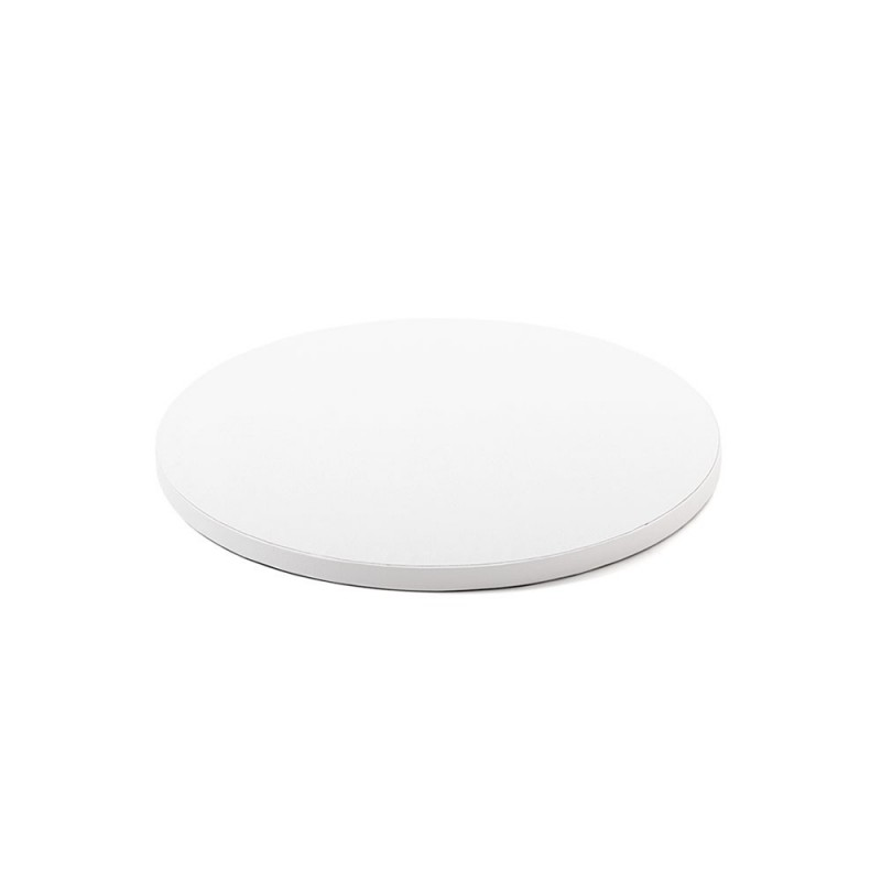 cake drum white, round 25 cm, 30 cm