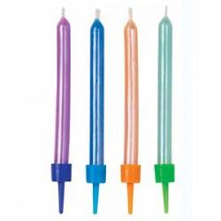 Bougies perlées multicolor Set/10