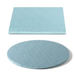 cake drum baby blue, round, square