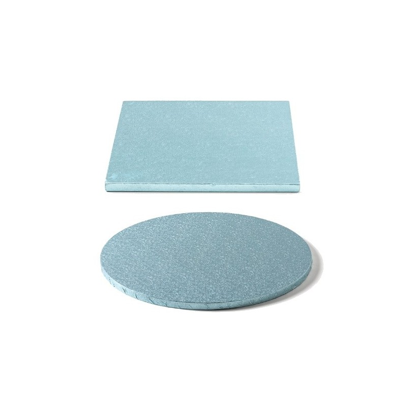 cake drum baby blue, round, square