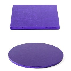 cake drum purple, round, square