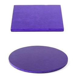 Tortenplatte violett, rund, quadrat