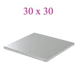 cake board silver square 30 cm