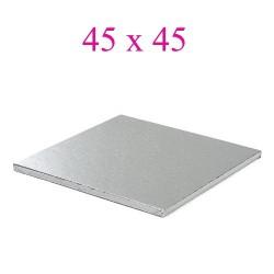 cake board silver square 45cm