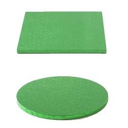 Tortenplatte dunkelgrün rund quadrat