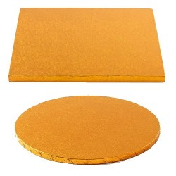 cake drum orange round square