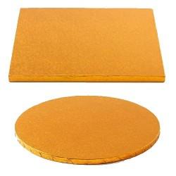 cake drum orange round square
