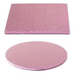 Tortenplatte rosa rund quadrat