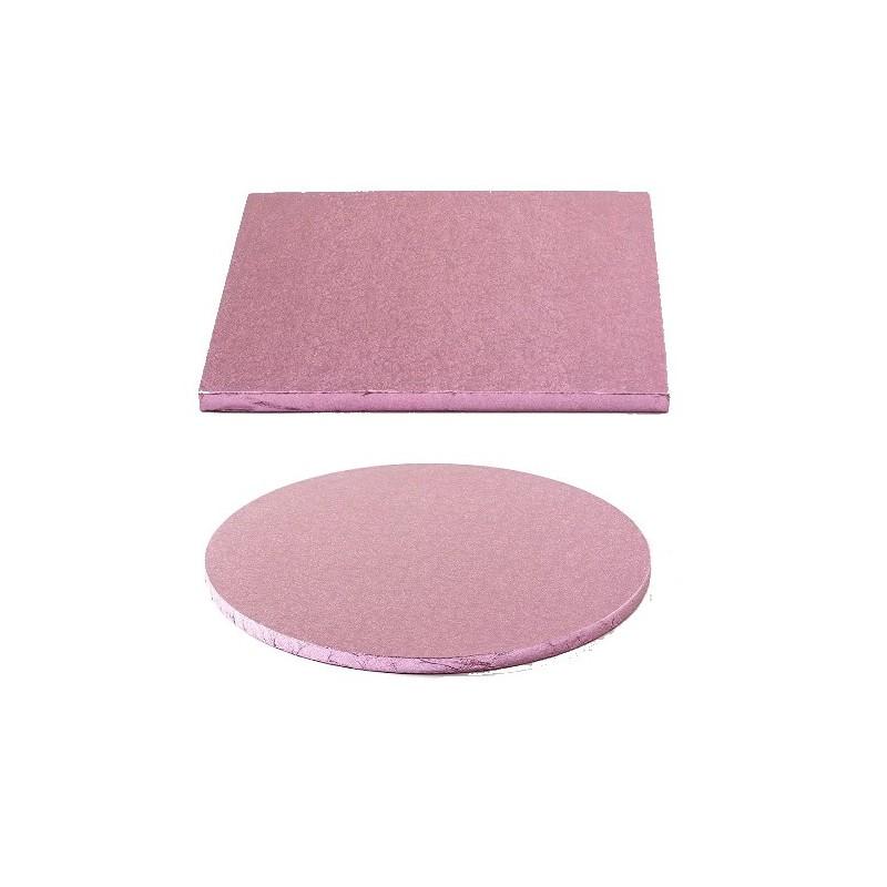 cake drum pink round square
