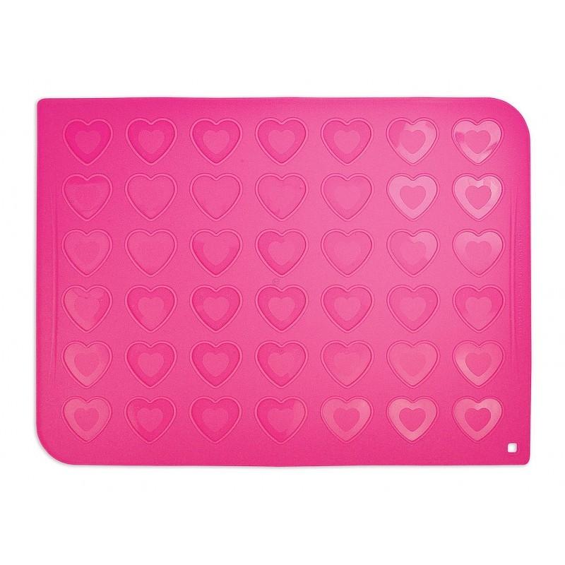 Tapis en silicone pour *macarons* cœurs