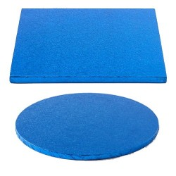 cake drum dark blue round square