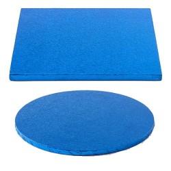 Tortenplatte dunkelblau rund quadrat