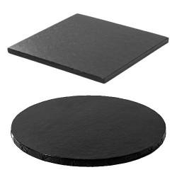 Tortenplatte schwarz rund quadrat