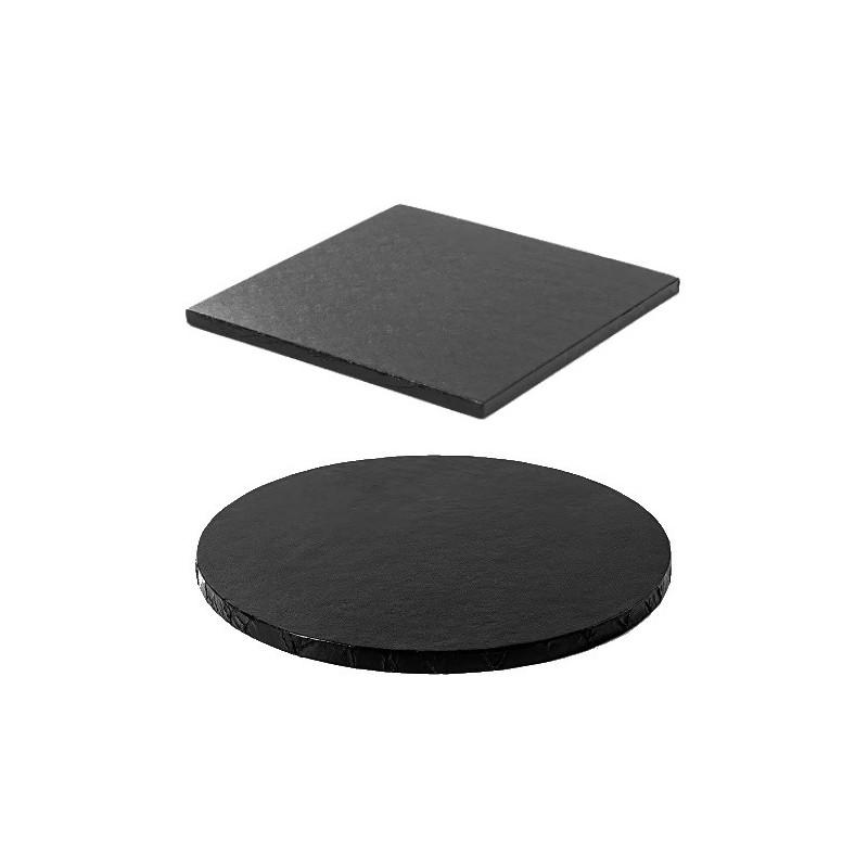 cake drum black round square