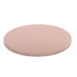 Cake drum pink gold round 25 cm 30 cm
