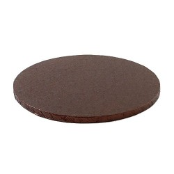Plateau brun rond 25 cm 30cm