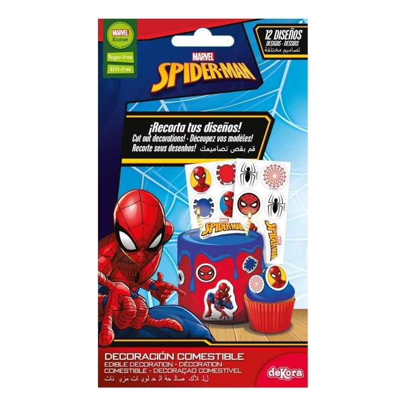 Edible decorations spiderman