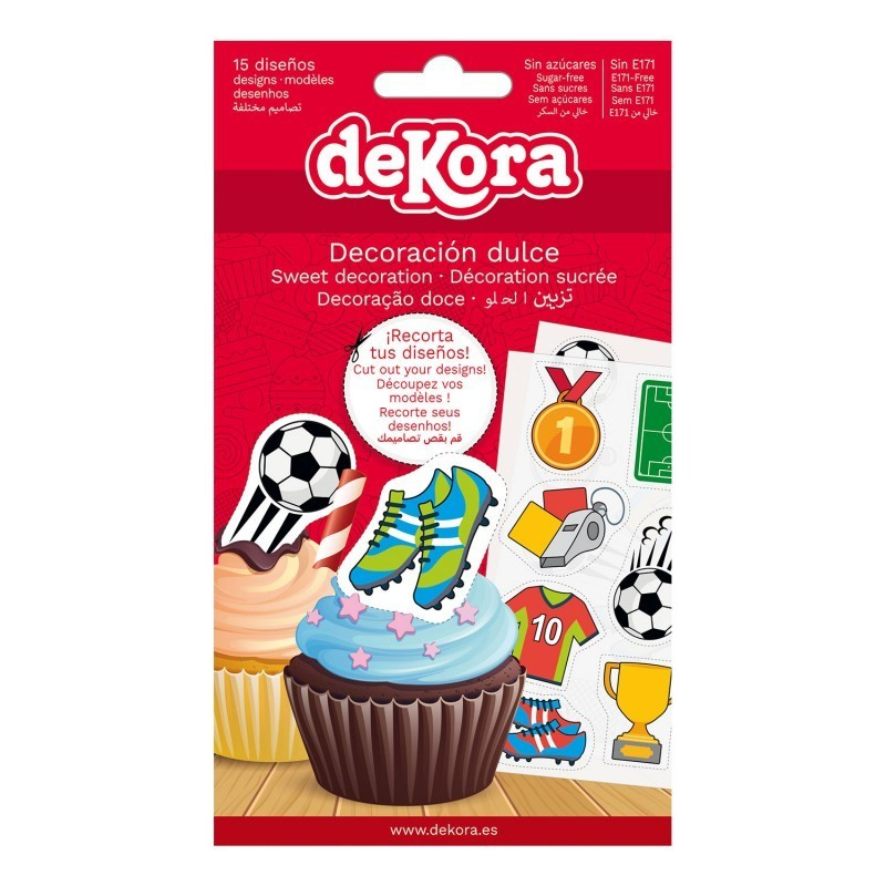 Edible decorations soccer