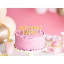 kerzen gold Happy Birthday