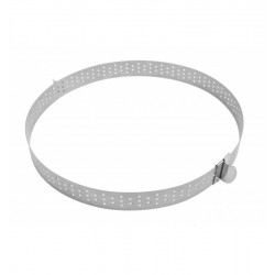 Tart ring, perforated, expandable