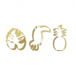 cookie cutters summer, pineapple, toucan, palm tree leaf