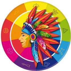 Teller Indianer