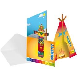 Einladungskarten Indianer, Tipi