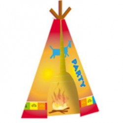 Invitation cards, tepee, indian, fire