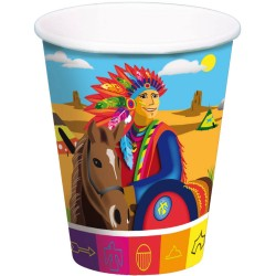 cups, cardboard, indians