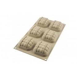 Silicone mold, eleganza, mini, entremet, cake, small, square