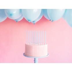 longue, grandes, bougie, bleu clair, anniversaire