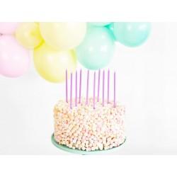 longues. bougie, anniversaire, lilas, clair, arc-en-ciel