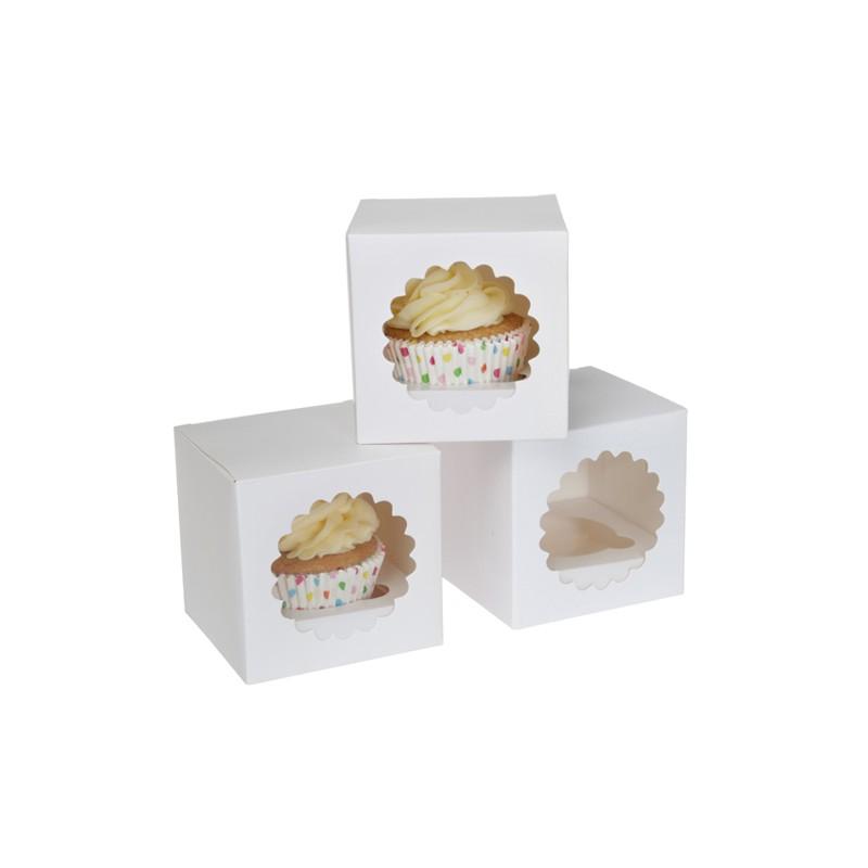 "Cupcake Box 1 ""White"" - Pk/3"